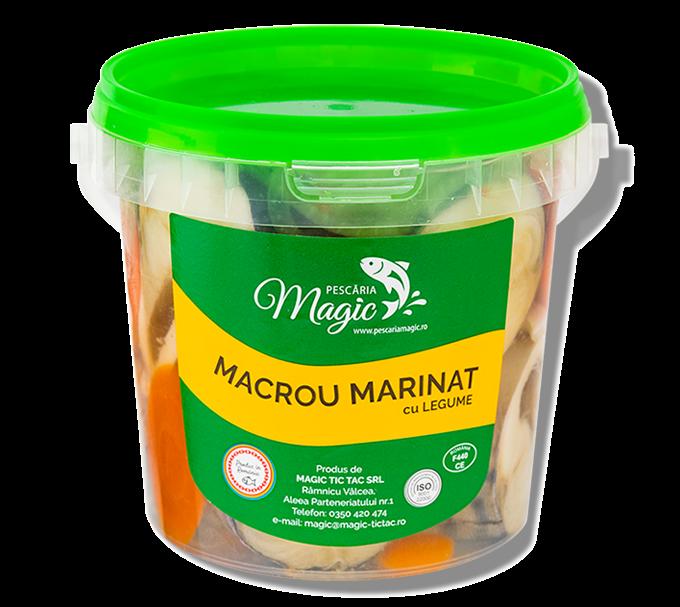 Macrou marinat cu legume